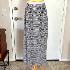 Ann Taylor Loft Long Striped Skirt
